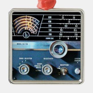 Adorno Metálico Receptor de radio de la onda corta del vintage