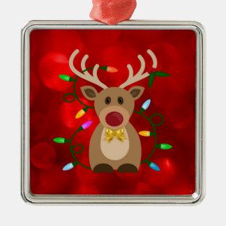 Adorno Metálico Reno del navidad en luces