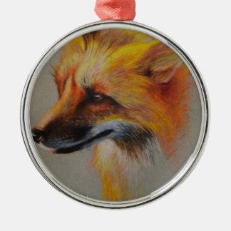 Adorno Metálico Retrato del Fox