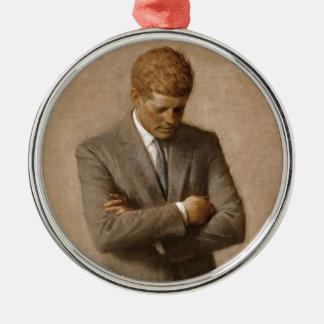 Adorno Metálico Retrato oficial de la Casa Blanca de John F.