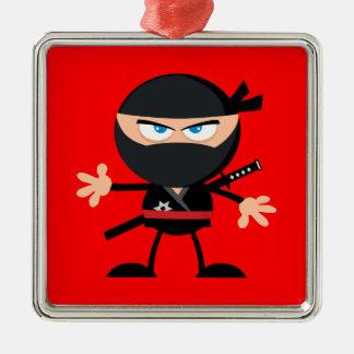 Adorno Metálico Rojo del guerrero de Ninja del dibujo animado