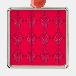Adorno Metálico Rojo salvaje de las mandalas del diseño