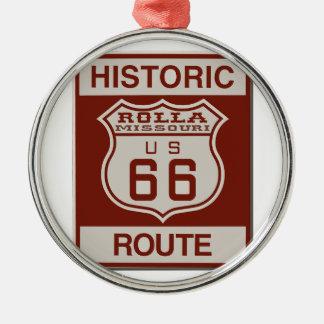 Adorno Metálico Ruta 66 de Rolla