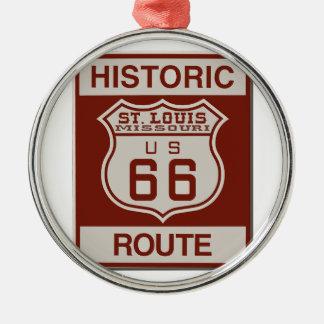 Adorno Metálico Ruta 66 de St. Louis