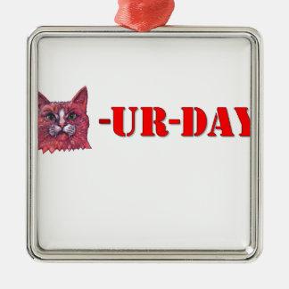 Adorno Metálico Sábado es Caturday