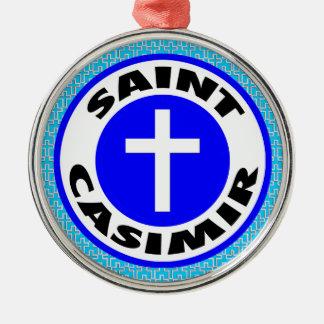 Adorno Metálico Santo Casimiro