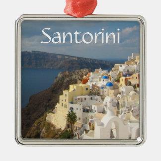 Adorno Metálico Santorini por la tarde Sun