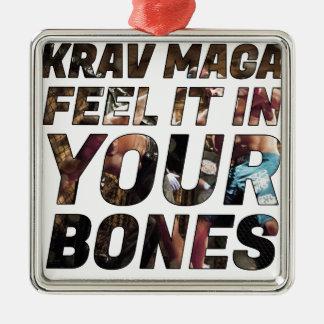 Adorno Metálico Sensación de Krav Maga él en sus huesos
