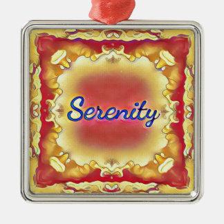 Adorno Metálico Serenidad enmarcada inspirada amarilla color de