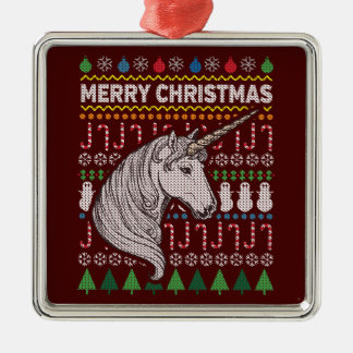 Adorno Metálico Serie fea de la fauna del suéter del navidad del