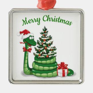 Adorno Metálico Serpiente del navidad