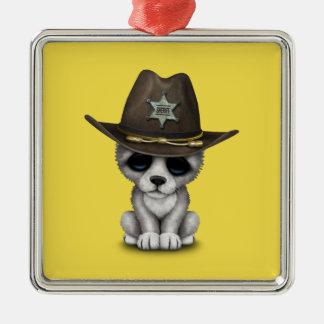 Adorno Metálico Sheriff lindo del lobo del bebé