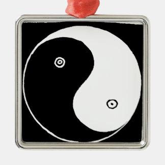 Adorno Metálico Símbolo de Yin Yang del chino