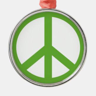 Adorno Metálico Símbolo verde del signo de la paz