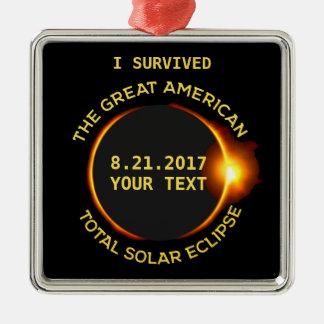 Adorno Metálico Sobreviví el eclipse solar total 8.21.2017 los