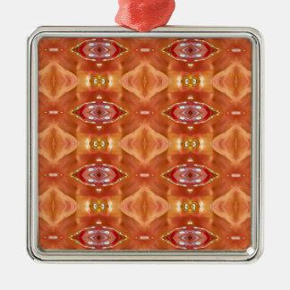 Adorno Metálico Sombras del diseño festivo moderno del melocotón