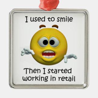 Adorno Metálico Sonreía humor al por menor del empleado