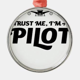 Adorno Metálico Soy piloto