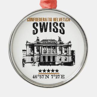 Adorno Metálico Suiza