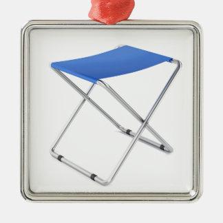Adorno Metálico Taburete plegable azul