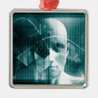 Adorno Metálico Tecnología futurista de la ciencia médica como