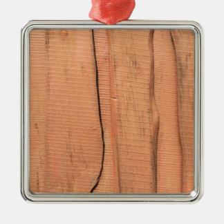 Adorno Metálico Textura de madera