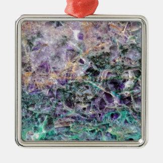 Adorno Metálico textura de piedra amethyst