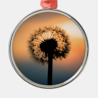 Adorno Metálico The Sunset and the Fragile Dandelion