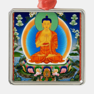 Adorno Metálico Tibetano Thangka Prabhutaratna Buda