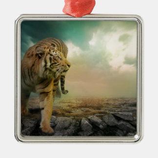 Adorno Metálico Tigre grande
