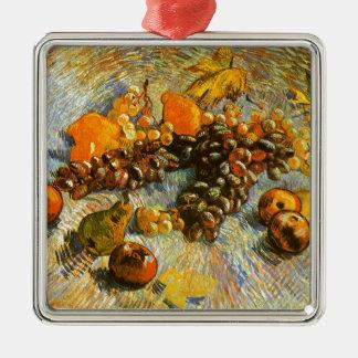 Adorno Metálico Todavía vida con las manzanas, peras, uvas - Van