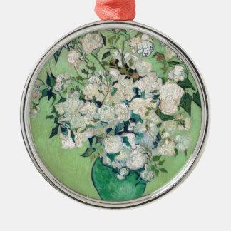 Adorno Metálico Todavía vida: Florero con los rosas - Vincent van
