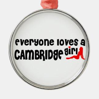 Adorno Metálico Todos ama a un chica de Cambridge