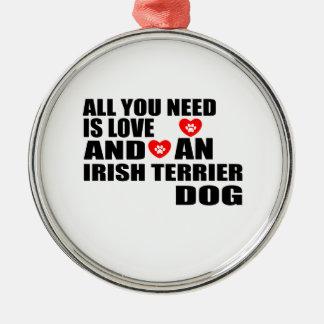Adorno Metálico Todos usted necesita diseños de los perros de