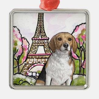 Adorno Metálico torre Eiffel París del beagle