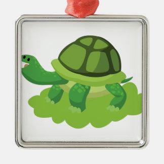 Adorno Metálico tortuga que camina en la hierba