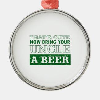 Adorno Metálico Traiga a tío una cerveza