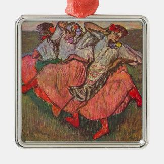 Adorno Metálico Tres bailarines rusos de Edgar Degas