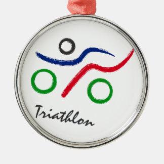 Adorno Metálico Un gran regalo del Triathlon para su amigo o