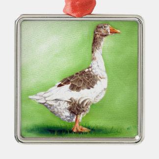 Adorno Metálico Un retrato de un ganso