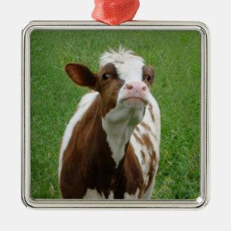 Adorno Metálico Vaca de leche de la lechería en la granja