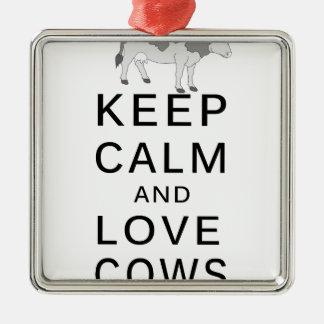 Adorno Metálico vacas del amor
