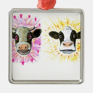 Adorno Metálico Vacas locas