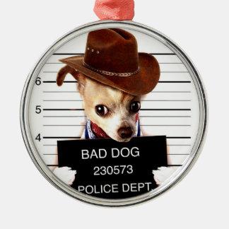 Adorno Metálico vaquero de la chihuahua - perro del sheriff