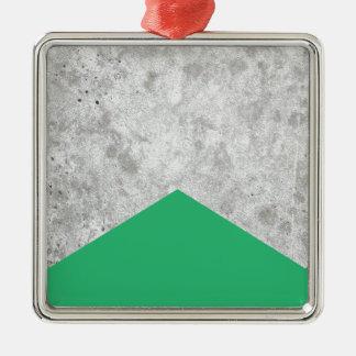 Adorno Metálico Verde concreto #175 de la flecha