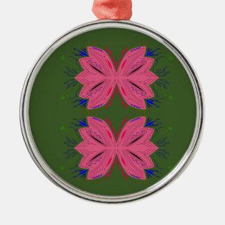 Adorno Metálico Verde del rosa de los elementos del diseño