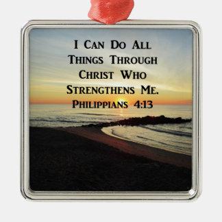 ADORNO METÁLICO VERSO IMPRESIONANTE DE LA ESCRITURA DEL 4:13 DE