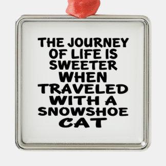 Adorno Metálico Viajado con el gato de la raqueta