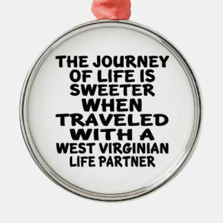 Adorno Metálico Viajado con un socio de la vida del Virginian del