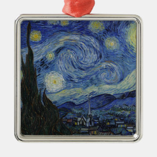 Adorno Metálico Vincent van Gogh - noche estrellada. Pintura del